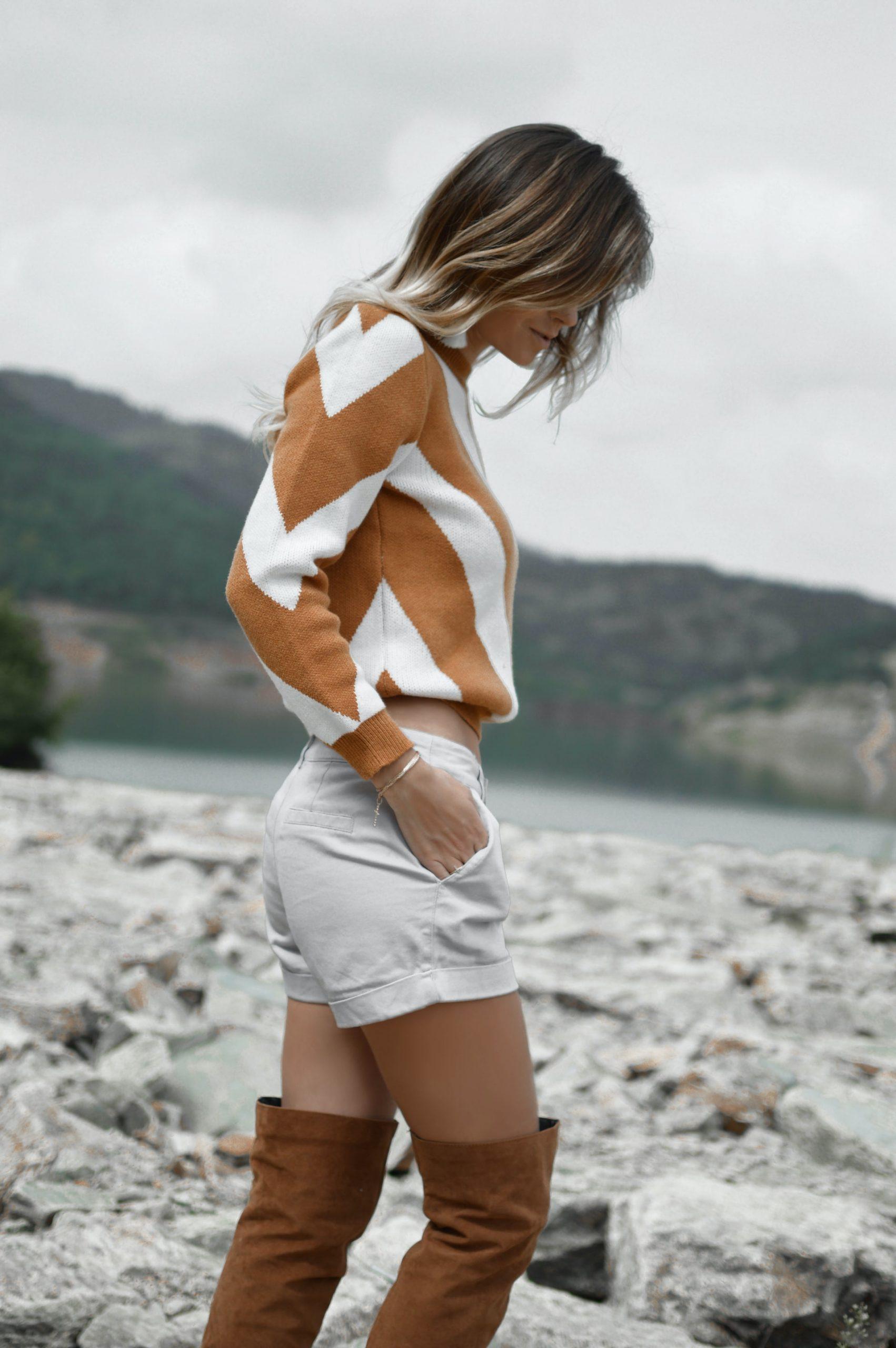 women-orange-stripes